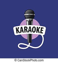 logotipo, vector, karaoke