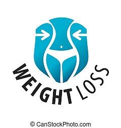 logotipo, vector, pérdida de peso, cintura