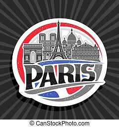 logotipo, vector, parís