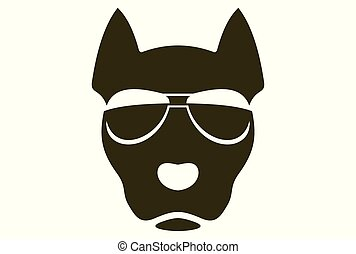 logotipo, vector, perro, fresco