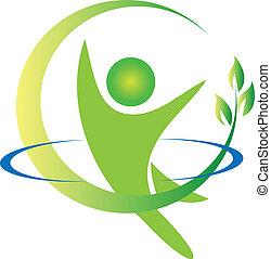 logotipo, vector, salud, naturaleza