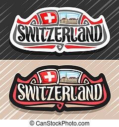 logotipo, vector, suiza
