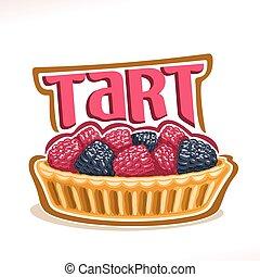logotipo, vector, tarta, postre