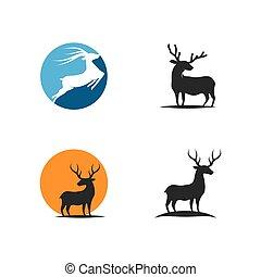 logotipo, vector, venado, ilustration