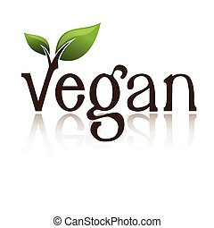 logotipo, vegan