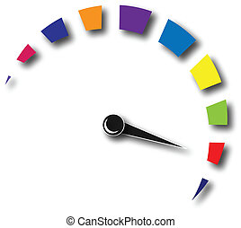 logotipo, velocidade, coloridos, hodômetro