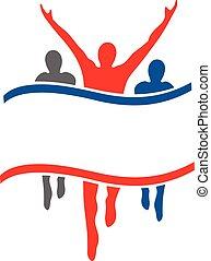 logotipo, vencedor