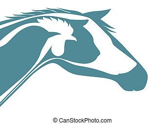 logotipo, veterinario