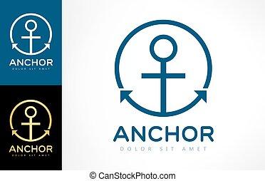 logotipo, vetorial, âncora