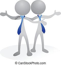 logotipo, vetorial, amigos, pessoas negócio