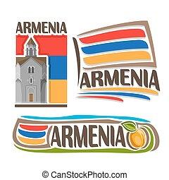 logotipo, vetorial, arménia