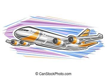 logotipo, vetorial, avião