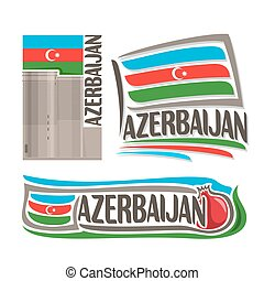 logotipo, vetorial, azerbaijão