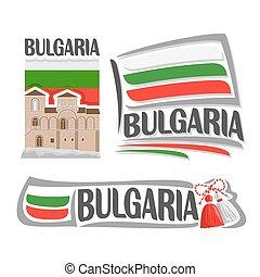 logotipo, vetorial, bulgária