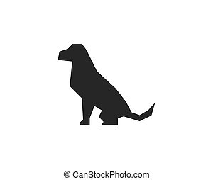 logotipo, vetorial, cão, modelo, ícone