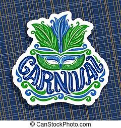 logotipo, vetorial, carnaval