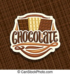 logotipo, vetorial, chocolate