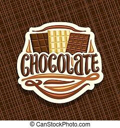 logotipo, vetorial, chocolate