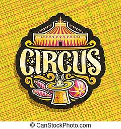 logotipo, vetorial, circo