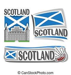 logotipo, vetorial, escócia