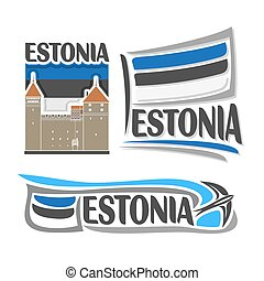 logotipo, vetorial, estónia