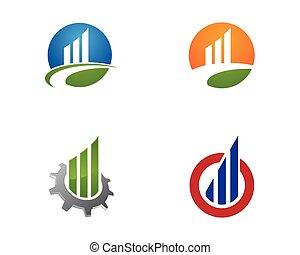 logotipo, vetorial, finanças, negócio, modelo
