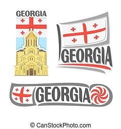 logotipo, vetorial, geórgia
