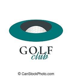 logotipo, vetorial, golfe, modelo