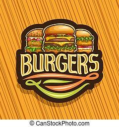 logotipo, vetorial, hambúrgueres