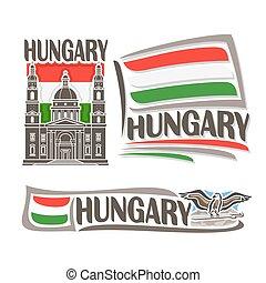 logotipo, vetorial, hungria