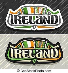 logotipo, vetorial, irlanda