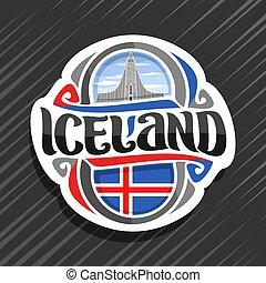 logotipo, vetorial, islândia