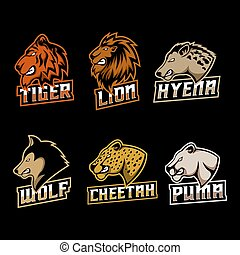 logotipo, vetorial, jogo, predador, ilustração