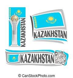 logotipo, vetorial, kazakhstan