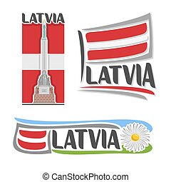 logotipo, vetorial, latvia