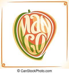 logotipo, vetorial, manga