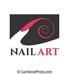 logotipo, vetorial, manicure