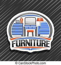 logotipo, vetorial, mobília