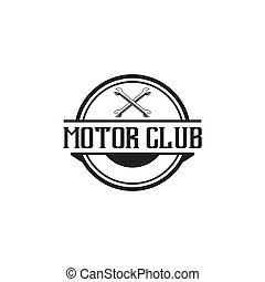 logotipo, vetorial, motor, ilustração, desenho, modelo, emblema, clube