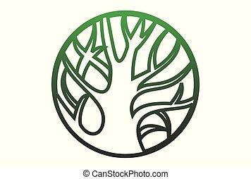 logotipo, vetorial, natureza, salvar