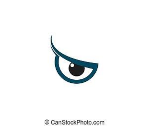 logotipo, vetorial, olho