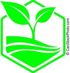 logotipo, vetorial, paisagem, design.