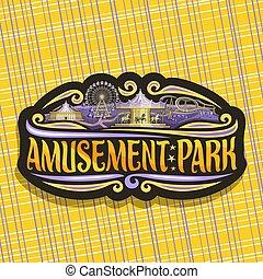 logotipo, vetorial, parque, divertimento