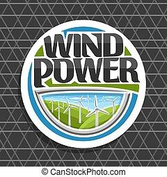 logotipo, vetorial, poder vento