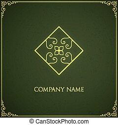 logotipo, vetorial, template.