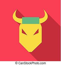 logotipo, vetorial, touro