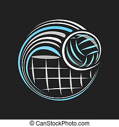 logotipo, vetorial, voleibol