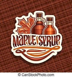 logotipo, vetorial, xarope, maple