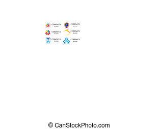 logotipo, vettore, affari, identità, sagoma