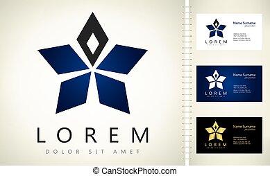 logotipo, vettore, affari, template., scheda, stella